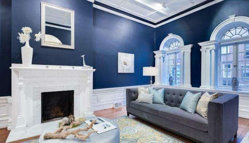 design albastru